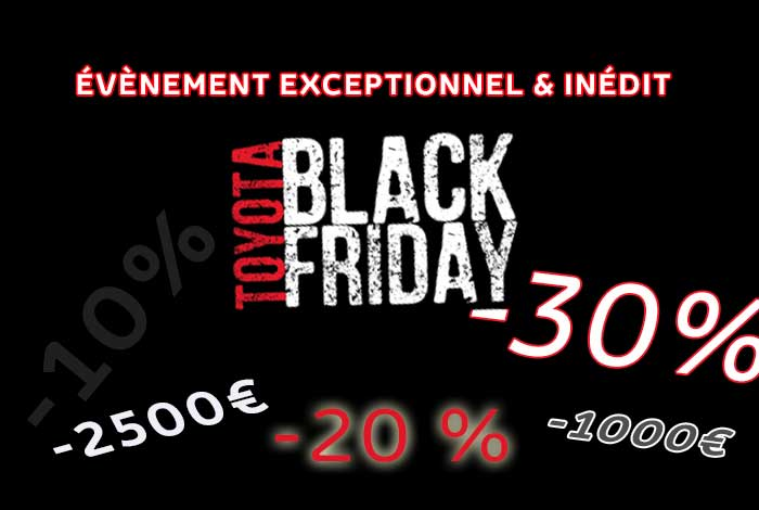 black friday 24 25 novembre toyota vauban le chesnay. Black Bedroom Furniture Sets. Home Design Ideas