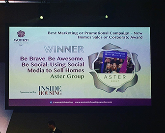 We Won 'Best Marketing or Promotional Campaign Award' at the Women In Housing Awards!
