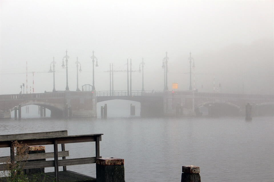 In Photos: A Foggy Morning in Amsterdam