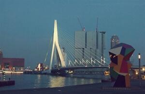 Day and Night: Erasmusbrug, Rotterdam