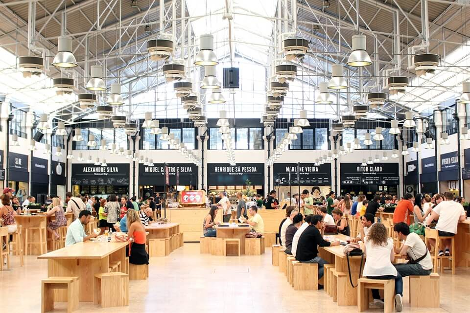 Travel Mercado Da Ribeira In Lisbon As The Bird Flies