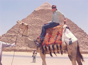 A photo from... the Pyramids of Giza, Egypt