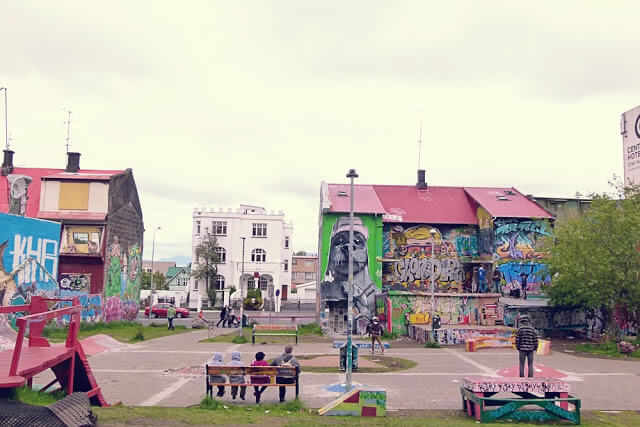 In photos: Street Art in Heart Park, Reykjavik