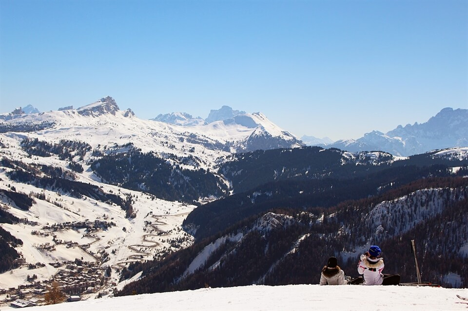 In photos: Snowboarding in the Dolomites