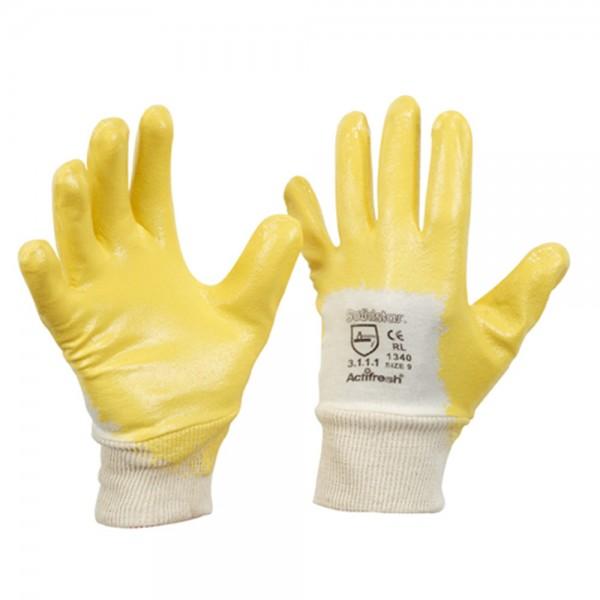 Actifresh® Nitril-Arbeitshandschuhe gelb  - SolidStar®