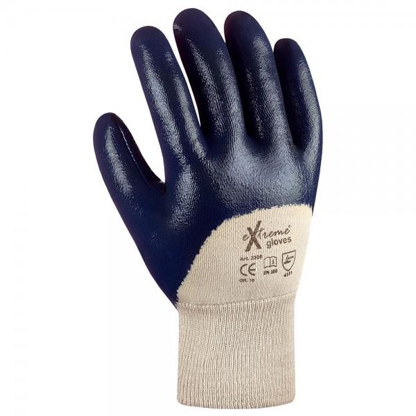 Industrie Nitril-Arbeitshandschuhe blau - eXtreme®