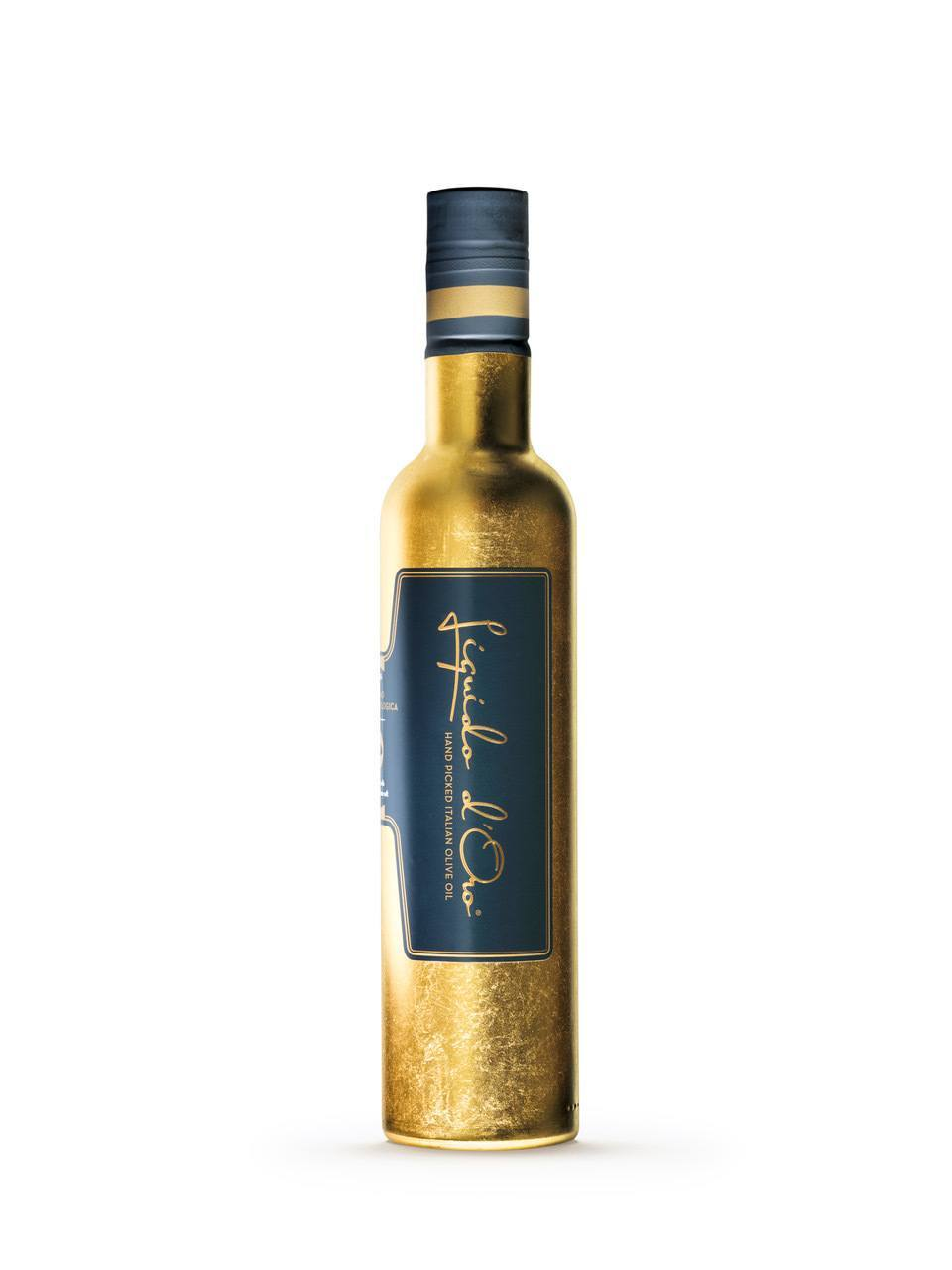 Golden bottle olive oil | Liquido d'Oro
