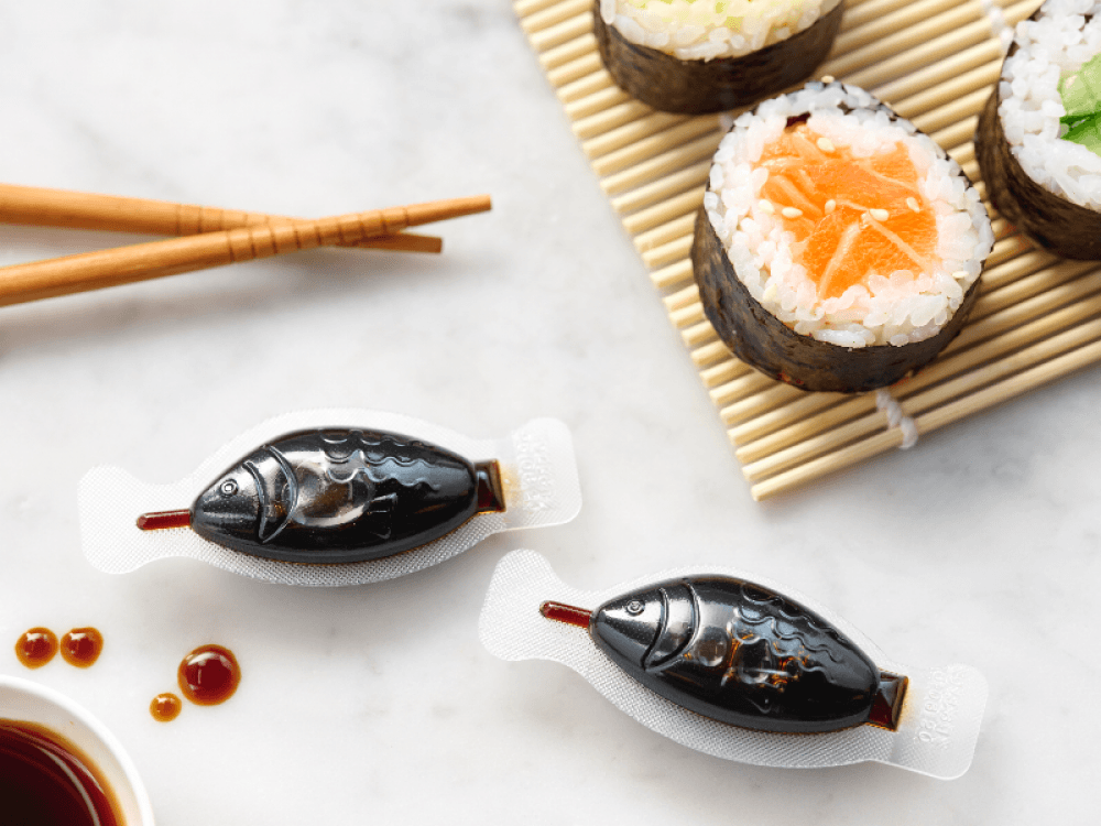 Fish shaped soy sauce