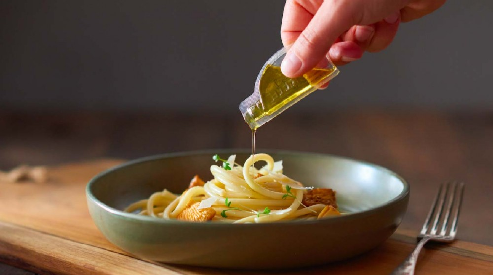single serving olive oil and condiment