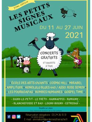 affiche festival des petits signes musicaux 2021