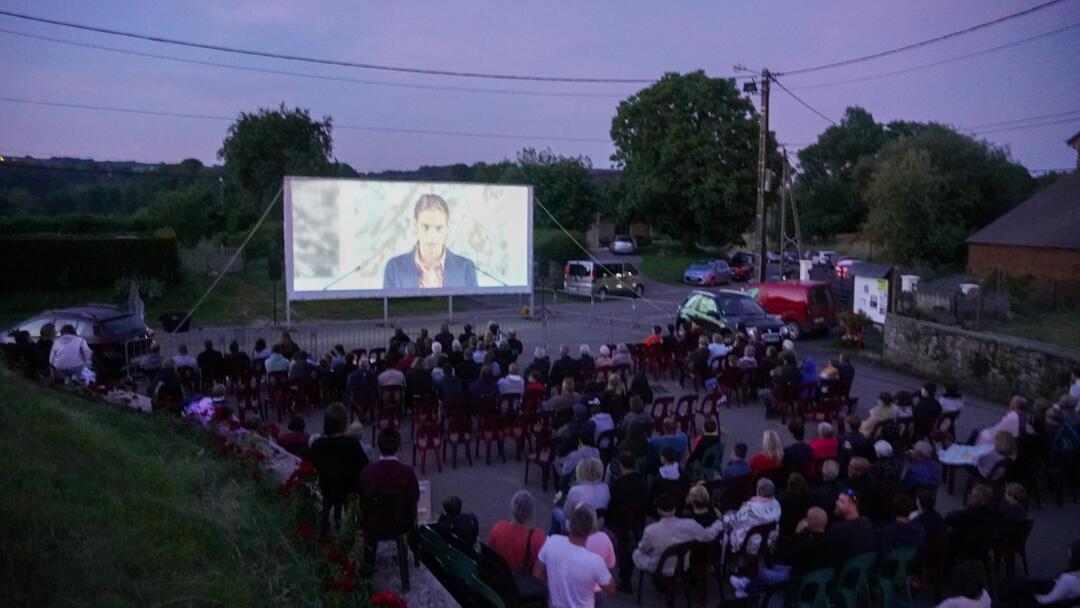 Inauguration cinema en plein air Chilly