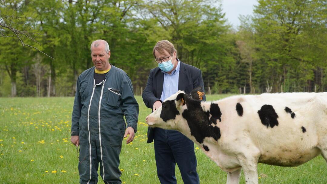 Visite Jean-louis Swartvagher à Laurent Cousin