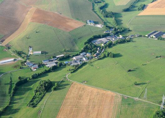 Ardennes Thiérache bâtiments Vue du ciel