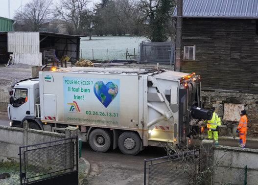 Camion collecte Ordures ménagères