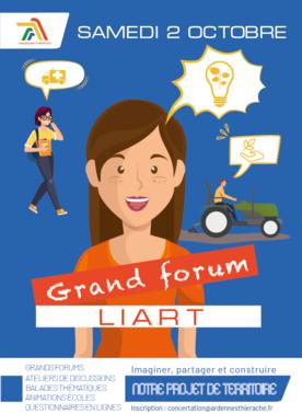 Concertation affiche grand forum liart