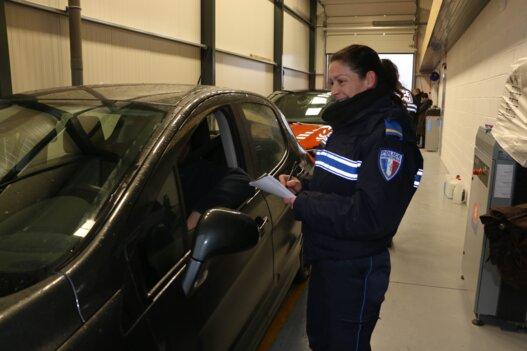 Controle de véhicules par la police municipale mutualisée