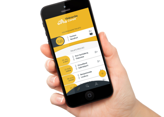 Smartphone appli Thiérache Covoit'