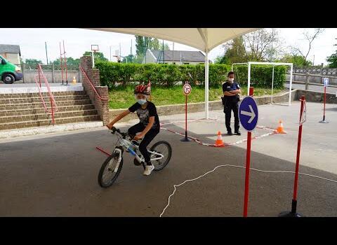 Police municipale mutualisée fait passer le permis vélo 2021