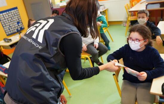 Masques enfants école Rouvroy sur Audry 2020