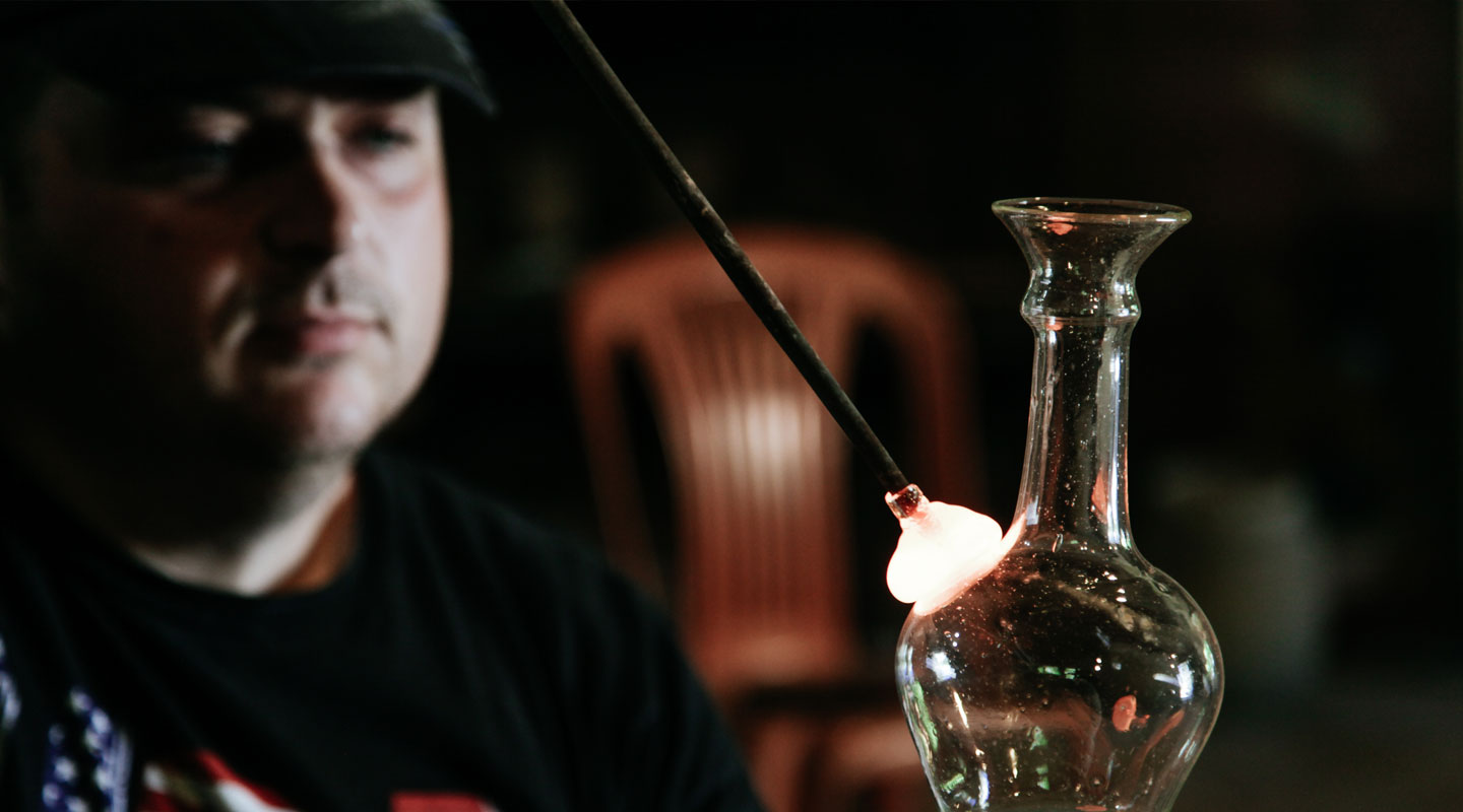 Hero glass blowing