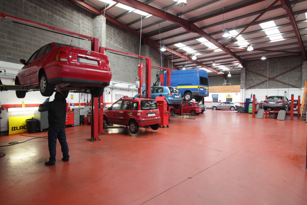 Cars undergoing a pre NCT check