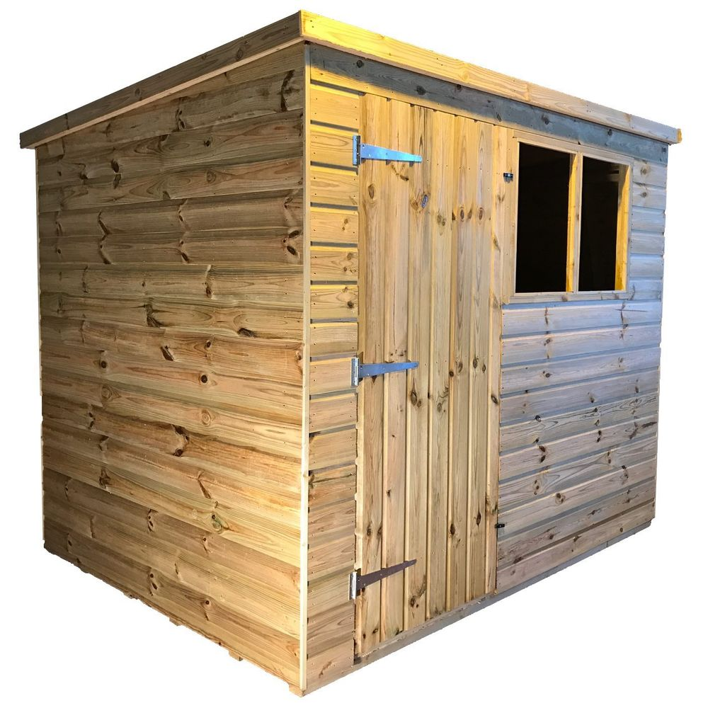 tanalised garden shed titan 2 pent a