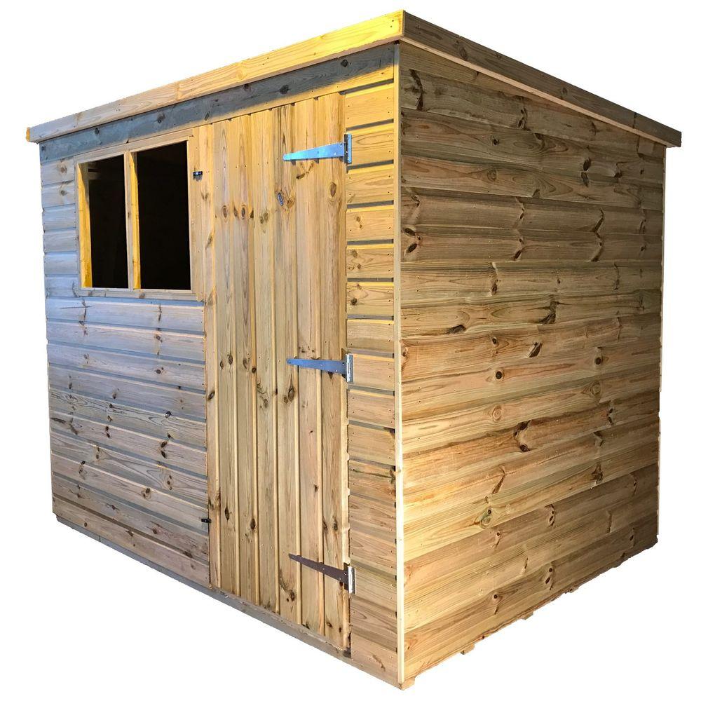 tanalised garden shed titan 2 pent b