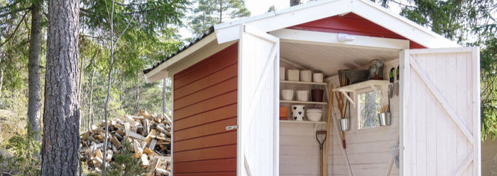 Shed storage solutions