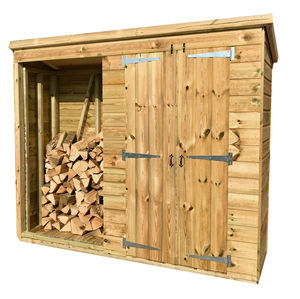 7x2 Pressure Treated Log Shed Combo