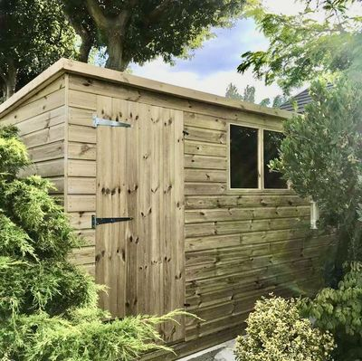 Tanalised Garden Shed - TITAN 2 Pent A