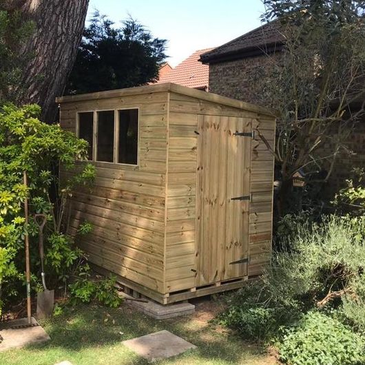 Tanalised Garden Shed - TITAN 1 Pent D