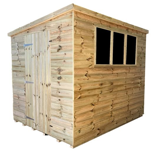 Tanalised Garden Shed - TITAN 2 Pent E