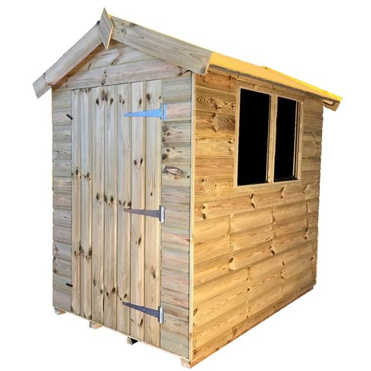 6x4 Tanalised Garden Shed - TITAN 1 Apex