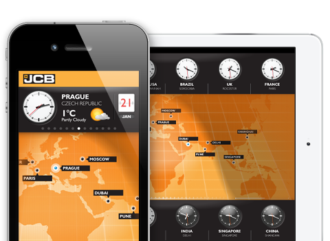 JCB World Clock iOS App
