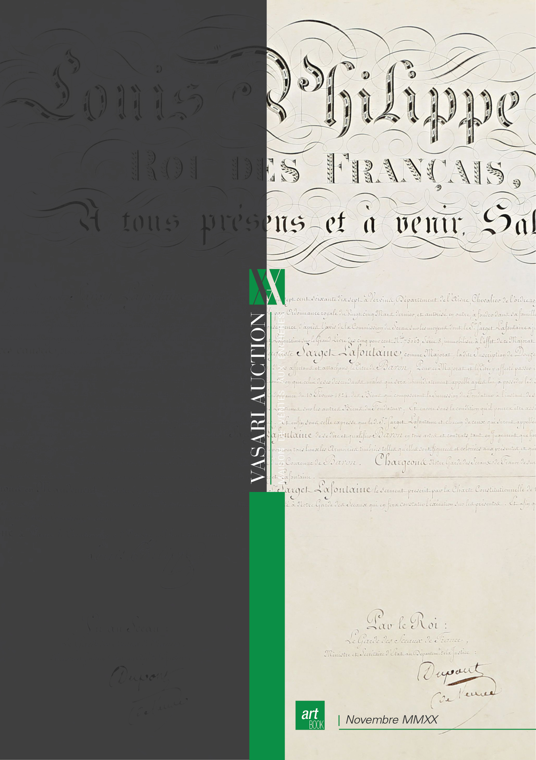 Vente Passion des Livres by Vasari Auction chez Vasari Auction : 222 lots