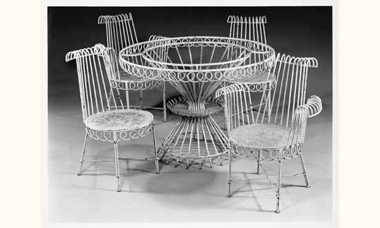 Mathieu MATEGOT (1910-2001) - Mobilier de jardin en fer forgé, Art ...