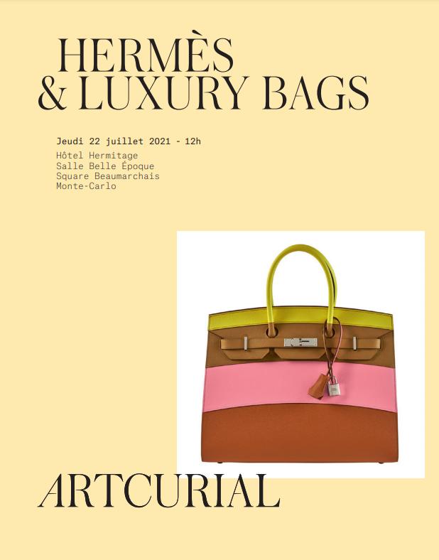Vente Hermès & Luxury Bags (Monaco) chez Artcurial : 96 lots