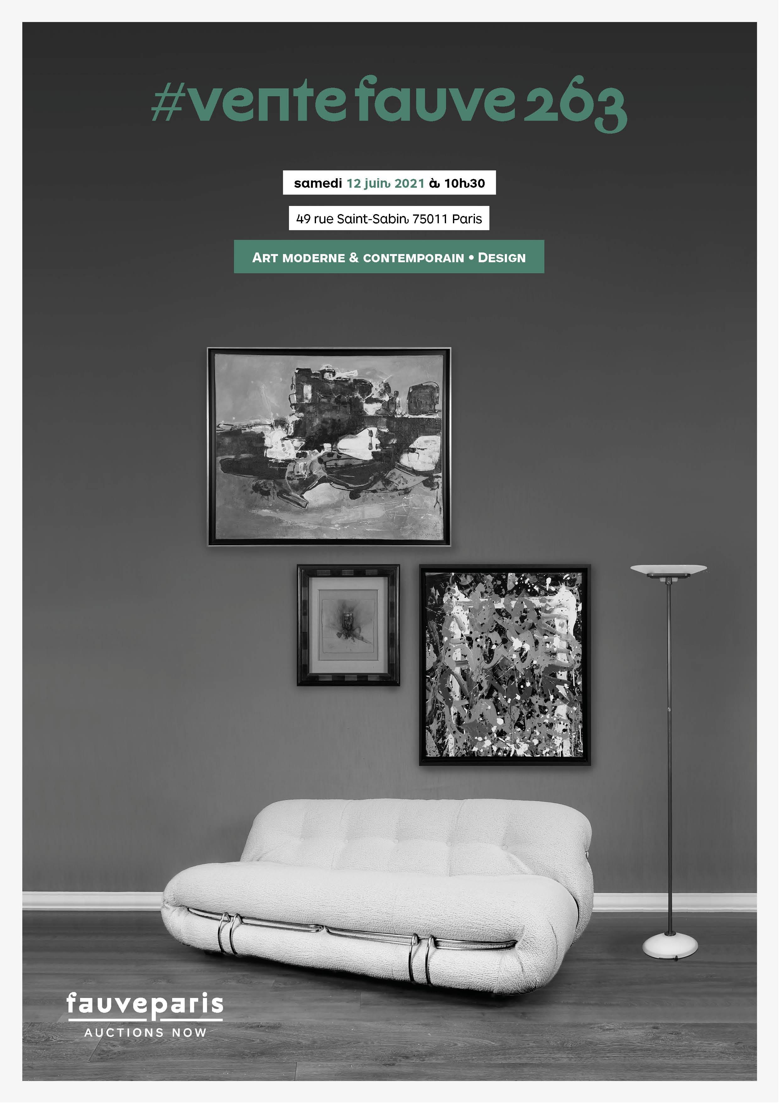 Vente Art Moderne & Contemporain • Arts Décoratifs • Art Urbain & Design chez FauveParis : 100 lots
