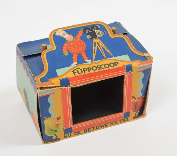 [Comics] Flipposcoop - 1936. Blue box in which Flipje strips could be played. Incl. 1 [...]