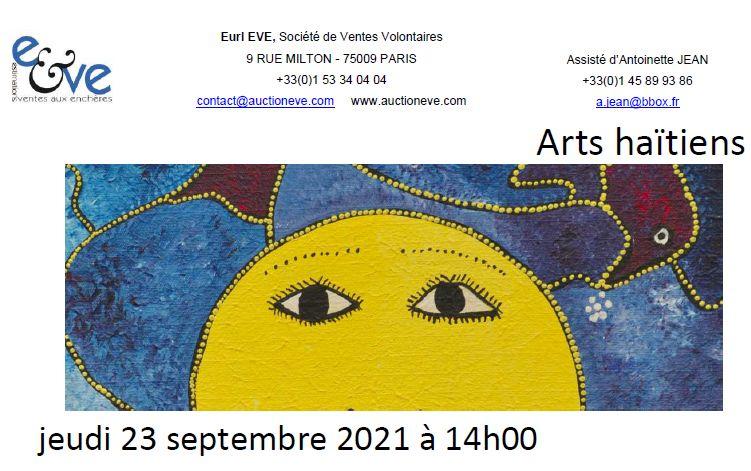Vente Arts Haïtiens chez Eve Enchères SVV : 361 lots