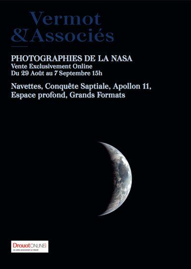 Vente Photographies de la Nasa chez Vermot et Associés : 150 lots
