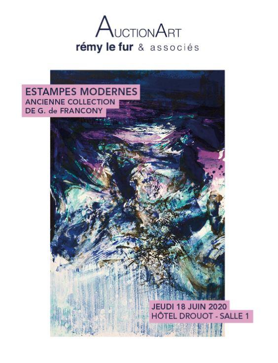 Vente Estampes Modernes et Contemporaines  chez AuctionArt - Rémy Le Fur & Associés : 218 lots