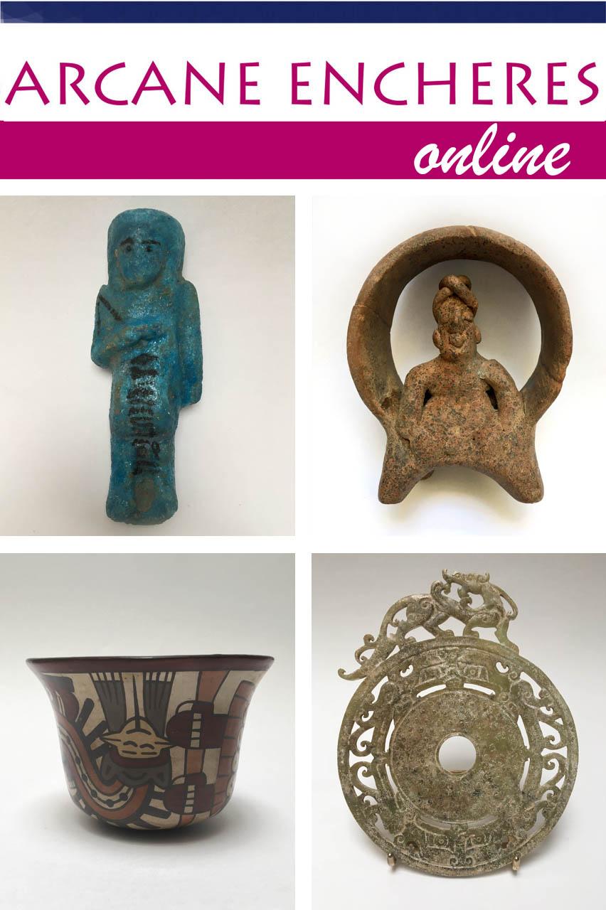 Vente Objets de curiosité & Archéologie chez ARCANE ENCHERES : 170 lots