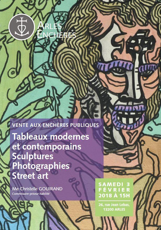 Vente Tableaux Modernes et Contemporains - Sculptures - Photographies - Street Art chez Arles Enchères : 358 lots