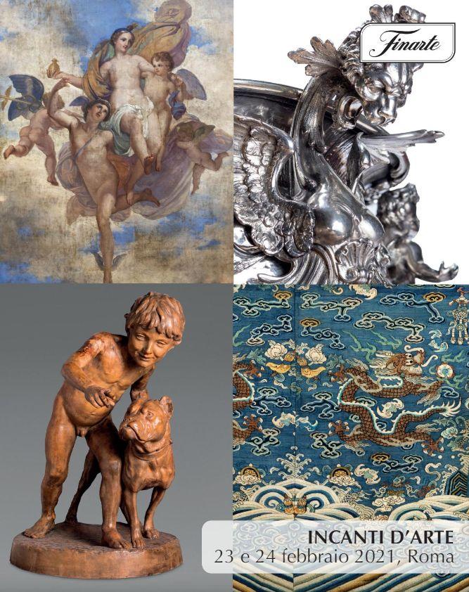 Vente Enchantements d'Art et Oeuvres d'Art d'une Importante Collection Privée Romaine (Roma) chez Finarte Auctions S.r.l. : 158 lots