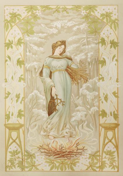 Les 4 Saisons Peinture D Art Nouveau 3e Serie Quatre Lithographies En Couleurs Lot 143 Mon Chez Moi Xxeme Chez Millon Et Associes Paris Auction Fr