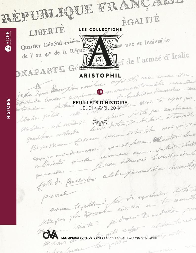 Vente Collections Aristophil - Vente 18 - Feuillets d'Histoire chez Ader : 203 lots