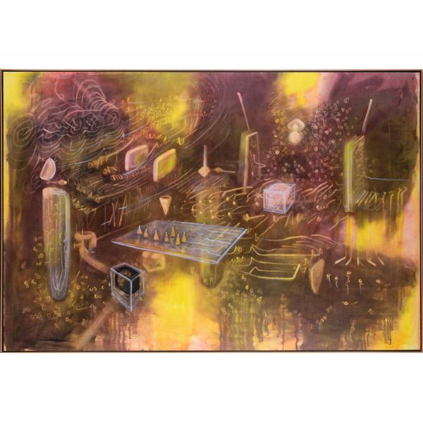 *Roberto Matta (1911-2002)  - Rooming life, 1977  - Huile sur toile  - Signée trois [...]