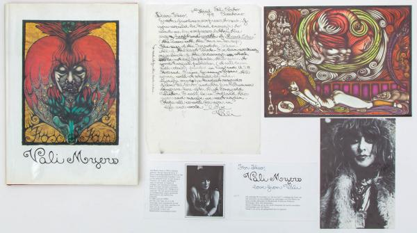 Vali Myers (1930-2003) - a composed lot with a handwritten letter by the artist [...]