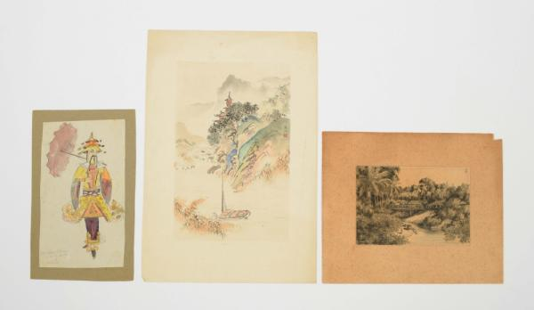[Graphic arts, paintings & drawings 16th-19th century] Three items: (1) Johan Gerard [...]